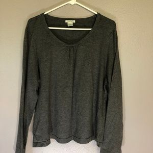 Laura Ashley XL Charcoal Grey Shirt